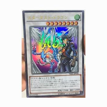 Yu Gi Oh Stardust smok i Yusei Fudo DIY zabawki Hobby Hobby kolekcje kolekcja gier Anime karty tanie i dobre opinie TOLOLO Q712 Dorośli Chiny certyfikat (3C) Fantasy i sci-fi