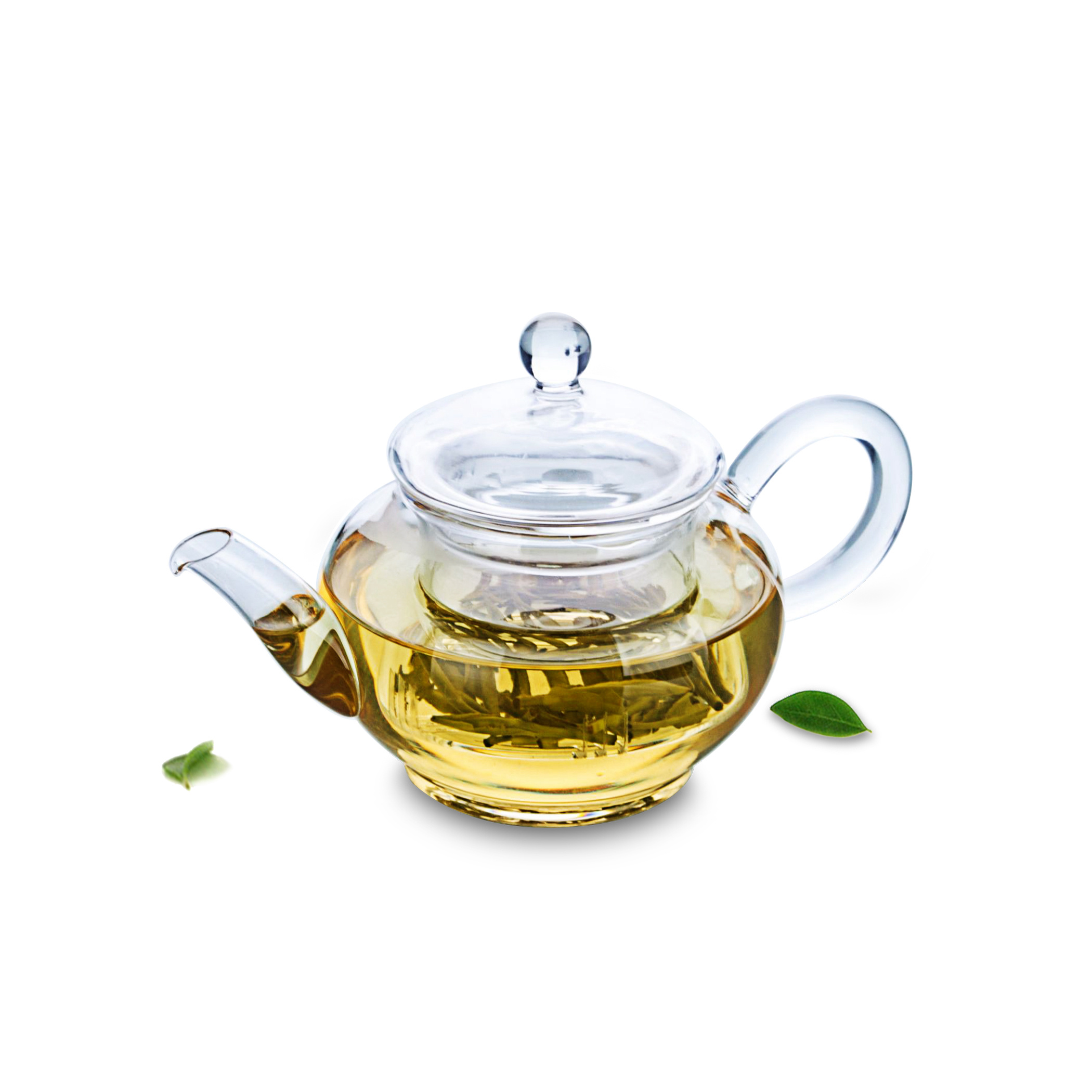 1x Small 260ml Heat-Resisting Clear Glass Handicraft Flower Teapot Water Coffee Tea Pot With Infuser