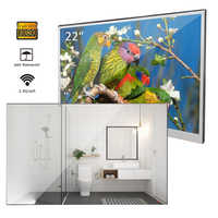 """Souria 22"""" inch Magic Android 7.1 Mirror LED TV IP66 Waterproof Rated Bathroom Salon In Wall Mounted Flat Screen (ATSC or DVB)"""