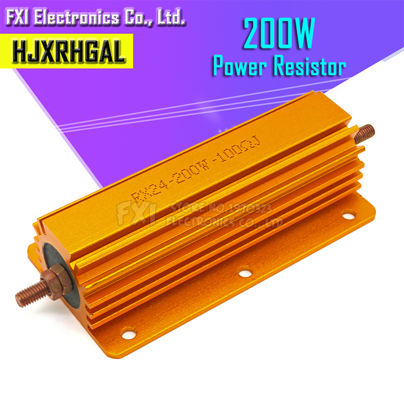 200W Aluminum Power Metal Shell Case Wirewound <font><b>Resistor</b></font> 0.1 ~ 1K 0.<font><b>15</b></font> 0.2 0.5 1 1.5 2 6 8 10 <font><b>15</b></font> 20 100 150 200 300 400 1K <font><b>ohm</b></font> image