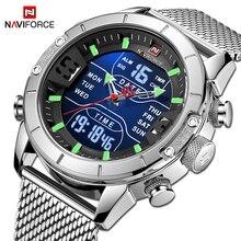 NAVIFORCE Mens saatler en lüks marka erkekler spor saatler kuvars dijital Chronograph saat erkek askeri kol saati erkekler için