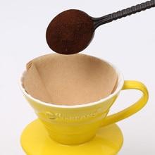 Wooden Hand V60 Drip Paper Coffee Filter 102 Handmade Espresso Filters Accessories Tea Bag Strainer Kitchen