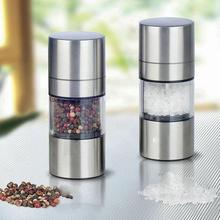 Manual Pepper Mill Salt Pepper Mill Grinder Portable Kitchen Mill Muller Home Kitchen Tool Spice Sauce Grinder Pepper Mill stainless steel pepper mill manual salt grinder muller kitchen accessories solid condiment grinding bottle kitchen gadgets