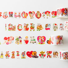 1pcs/1lot Decorative Adhesive tapes Sweet Cake lovely animals Scrapbooking DIY Paper Scrapbooking Stickers 3m
