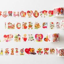 1 adet/1 grup dekoratif yapışkan bantlar tatlı kek güzel hayvanlar Scrapbooking kendi başına yap kağıdı Scrapbooking çıkartmaları 3m