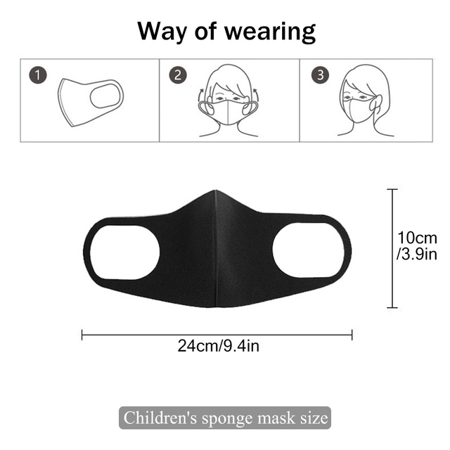 5Pcs/lot For 4-11 Years Kids Children Mouth Mask proof Pollution Mask PM2.5 Air Dust Face Masks Washable & Reusable Mouth Cover 5