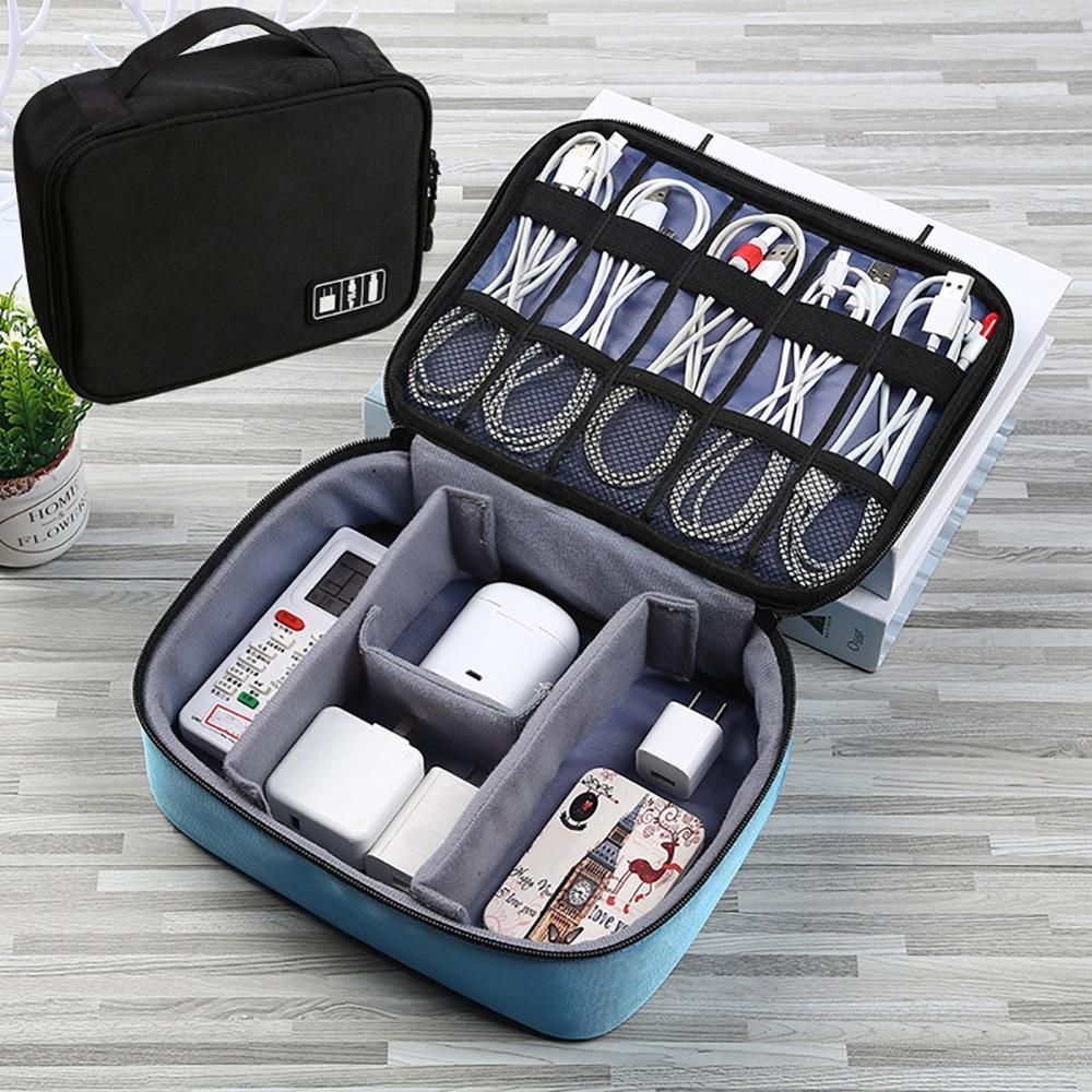 Bag Cable Charger Storage-Bag Earphone Usb-Gadget Travel-Organizer Multifunction Case