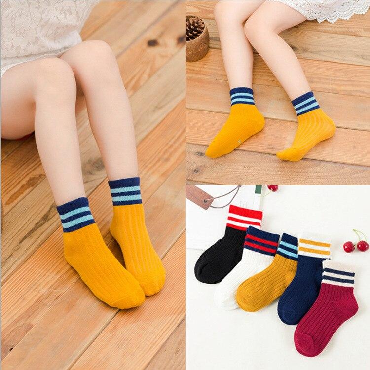 5 Pairs Baby Boys Winter Socks Cartoon Bear Kids Spring Autumn Cotton Breathable Keep Warm Floor Anti-skid Girls Socks 5