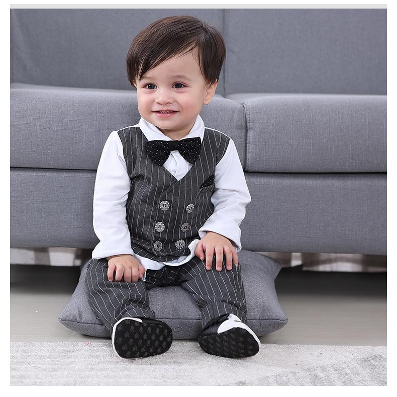 AW20 magnifique bébé garçon bleu cheval à bascule impression Jam Pantalon costume à manches longues