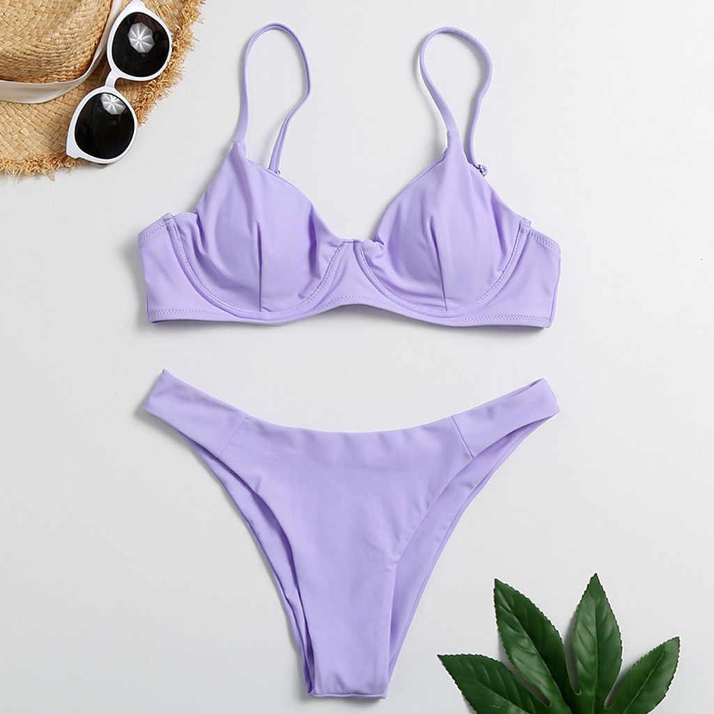 Women High Waist Bikini Swimwear Split Swimuit Stylish Beachewear Bikini Set Hot