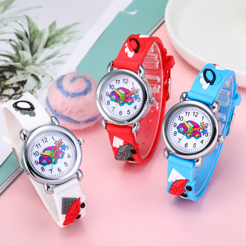 2020 New Cute 3D Car Kids Watches Soft Silicone Band Vehicle Children Watch Boys Girls Baby's Wrist Watch Clock Relogio Infantil