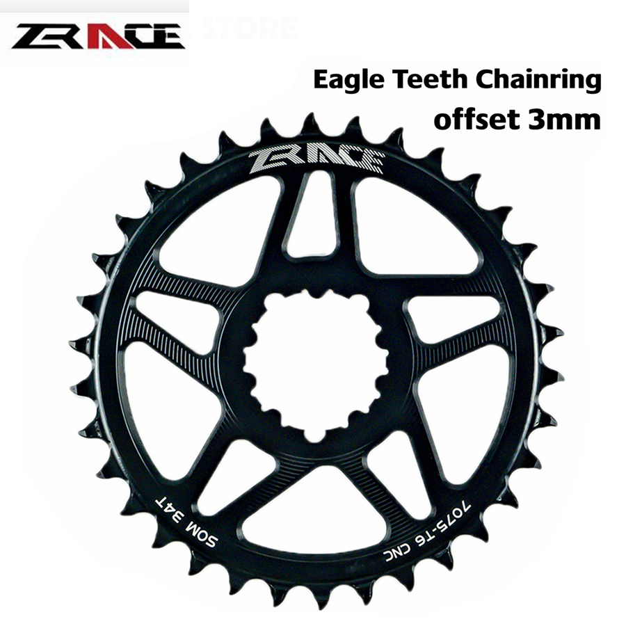 ZRACE Bicycle Chainring 10s 11s 12s MTB Bike ChainWheel Eagle tooth 7075 CNC offset 3mm 32T 34T 36T For SRAM Direct Mount Crank image