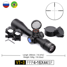 AR15 Compact Scope First Focal Plane Discovery VT-3 FFP 4-16X44SF Short and Light RifleScopes FFP for Quick Hunting