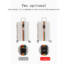 Travel Luggage with Rainbow Suitcase Adjustable 200CM Buckle Backpack Packed Belt