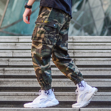 Fashion Streetwear Men Joggers Pants High Quality Loose Fit Big Pocket Cargo Camouflage Military Hip Hop Hombre