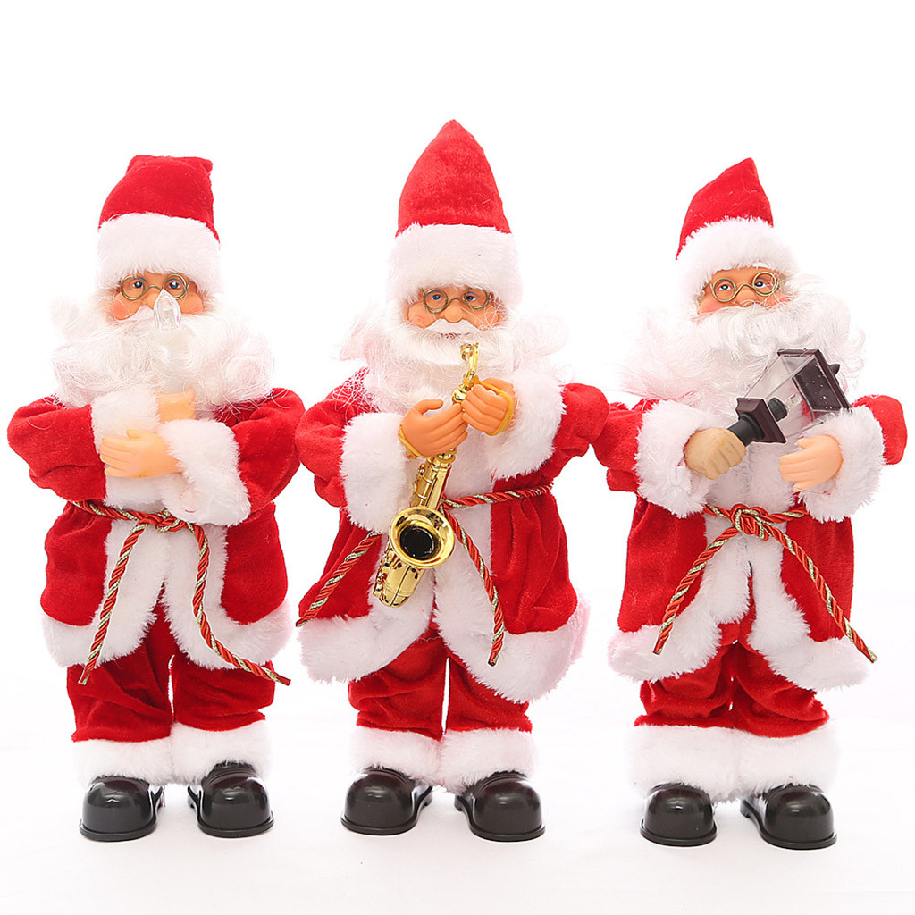 New Gags & Practical Jokes Christmas Deco Electric Dancing Music Santa Doll Toy Xmas Party Christmas Gifts Novelty & Gag Toys