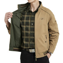 Brand Double-sided Military Jacket Men 7XL 8XL Spring Autumn Cotton Business Casual Multi-pocket Men's Jackets chaquetas hombre
