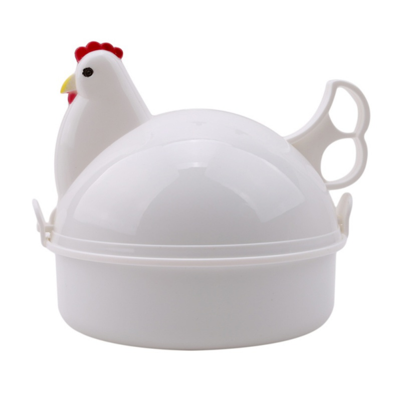 Practical Kitchen Utensils Chicken-shaped Microwave Steamed Egg Oven New Product Cooker Boiler Boil Steamer Tools