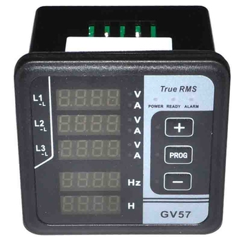 HOT-GV57 3-Phase Generator Digital Multifunctional Meter Amp Volt Frequency Tester Current Detector