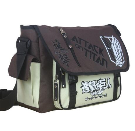 Attack On Titan Naruto Tokyo Ghoul One Piece My Neighbor Totoro Messenger School Bag Sling Satchel Anime Single Shoulder Bags