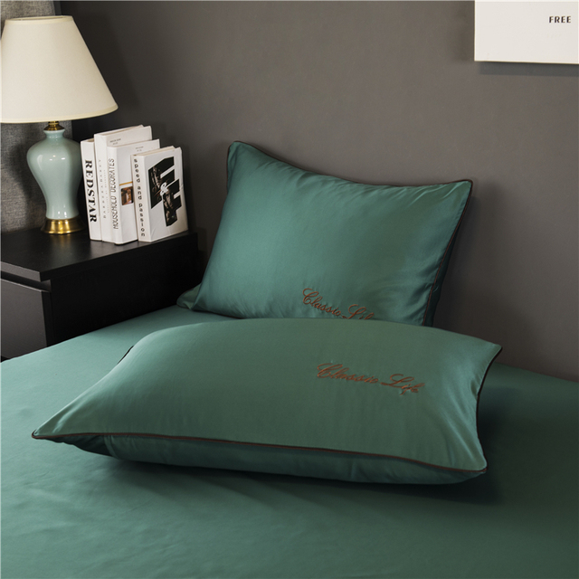 TWO Side 100% satin silk Pillowcases Envelope Pure Silk Embroidery Pillow Case Pillowcase for Healthy Sleep Multicolor 48x74cm 4