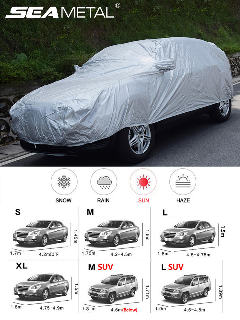 Sunshade Car-Cover Exterior Outdoor-Protection Dustproof Sedan Universal Hatchback