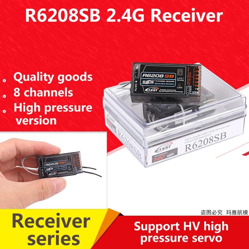 Oyuncaklar ve Hobi Ürünleri'ten Parçalar ve Aksesuarlar'de R6208SB FASST Yüksek Gerilim Alıcı Futaba S. otobüs 6208 18MZ 18SZ 14SG T8FG 16SZ SBUS alıcı 8 kanal RC modeli için'da  Grup 1