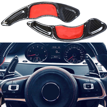 Carbon Steering Wheel Shift Paddle Extension Shifters Replacement For BMW Volkswagen VW GOLF 7 Golf 7 2015-GTI R MK7 Scirocco