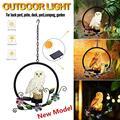Светодиодный светильник на солнечной энергии с совой и попугаем  водонепроницаемый декоративный садовый светильник