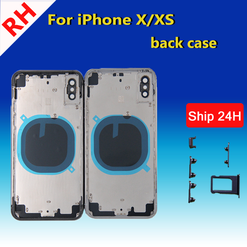 Replacement Parts For IPhone X Battery Cover Rear Housing Case Middle Frame Chassis And Back Glass Cover For IPhone X 5.8