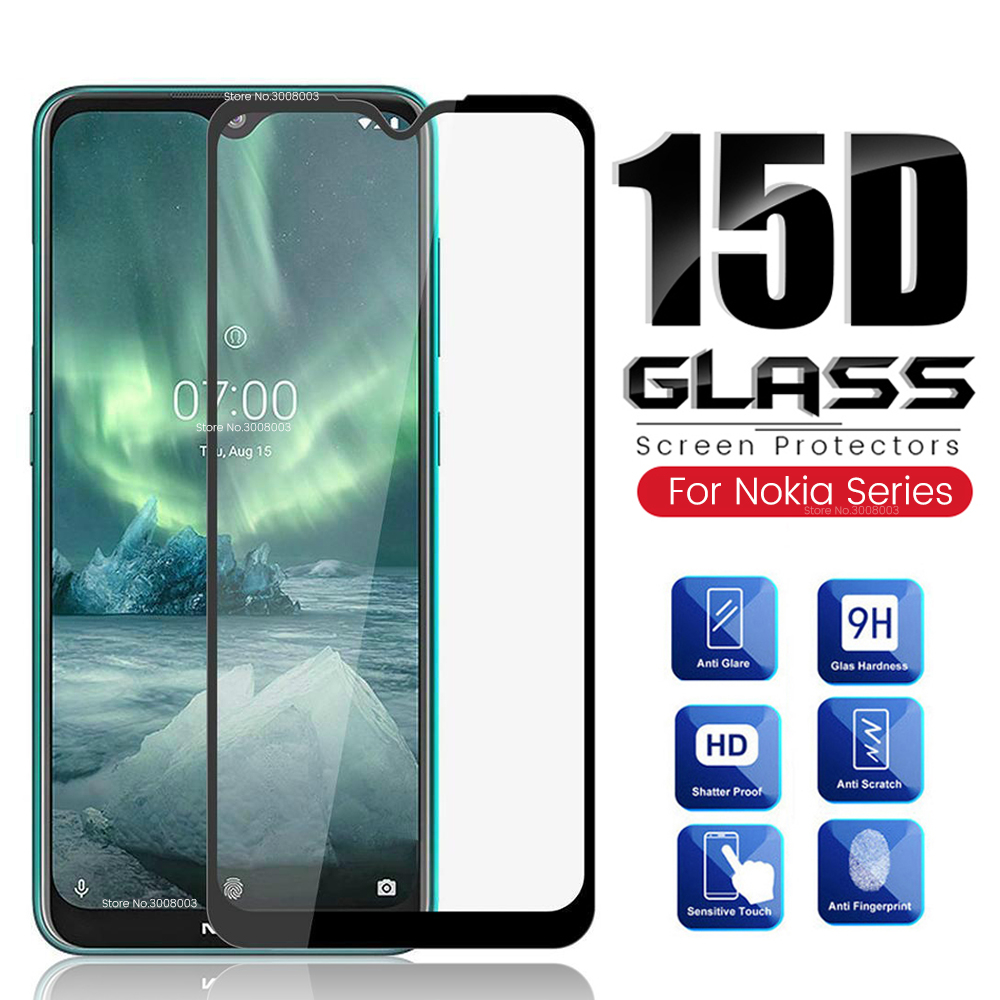 15d protective glass for <font><b>nokia</b></font> 2.2 3.2 4.2 6.2 <font><b>7.2</b></font> nokia2.2 nokia3.2 nokia4.2 nokia6.2 nokia7.2 2019 <font><b>screen</b></font> <font><b>protector</b></font> film cover image