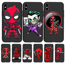 Deadpool Batman Marvel Avengers For iPhone X XR XS 11 Pro Max 5 5S SE 6 6S 7 8 Plus Oneplus 5T Pro 6T phone Case Cover Coque(China)