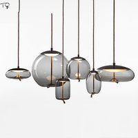 Nordic Brokis Knot Glass Pendant Lights Minimalist Led Hanging Lamp Design Restaurant Living Room Bedroom Bedside Home Luminaire