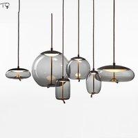 Nordic Brokis Knot Glass Pendant Lights Minimalist Led Hanging Lamp Design Restaurant Living Room Bedroom Bedside Home Luminaire
