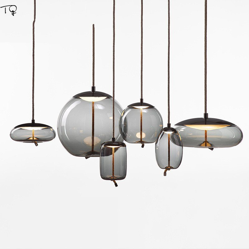 Nordique Brokis noeud verre pendentif lumières minimaliste Led suspension lampe Design Restaurant salon chambre chevet maison Luminaire