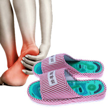 Acupressure Points Massage Shoes 1 Pair Magnetic Reflexology Slippers Pain Relief Foot Relaxation Healthy Care Health