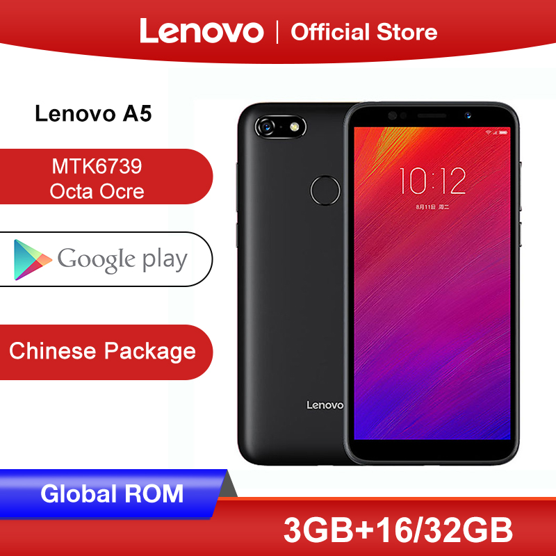 Global Rom Lenovo A5 3GB 16GB Smartphone MTK6739 Quad Core 5.45 Inch Screen 4G LTE Mobile Phones 4000mAh Face ID Fingerprint