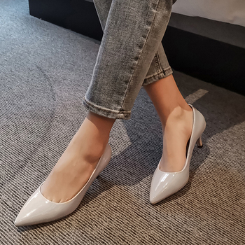 Doratasia 2020 Hot Sale Genuine Leather Strange Style Shoes Woman Pumps Female Pointed Toe Spring Office Lady Pumps Women
