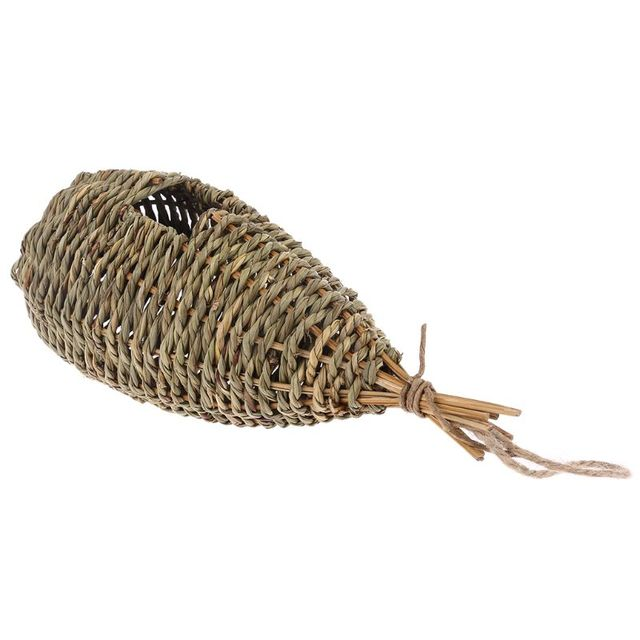 Hanging Bird House Natural Fiber - Finch Bird Nest  - Durable - Breathable - Eco-Friendly 4