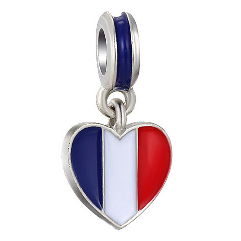 French Tricolore flag Stud 925 silver earrings