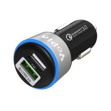 Стиль QC3.0 быстрая зарядка автомобильное зарядное устройство один плюс два многофункциональных автомобильное зарядное устройство для мобильного телефона двойной USB Автомобильное зарядное устройство