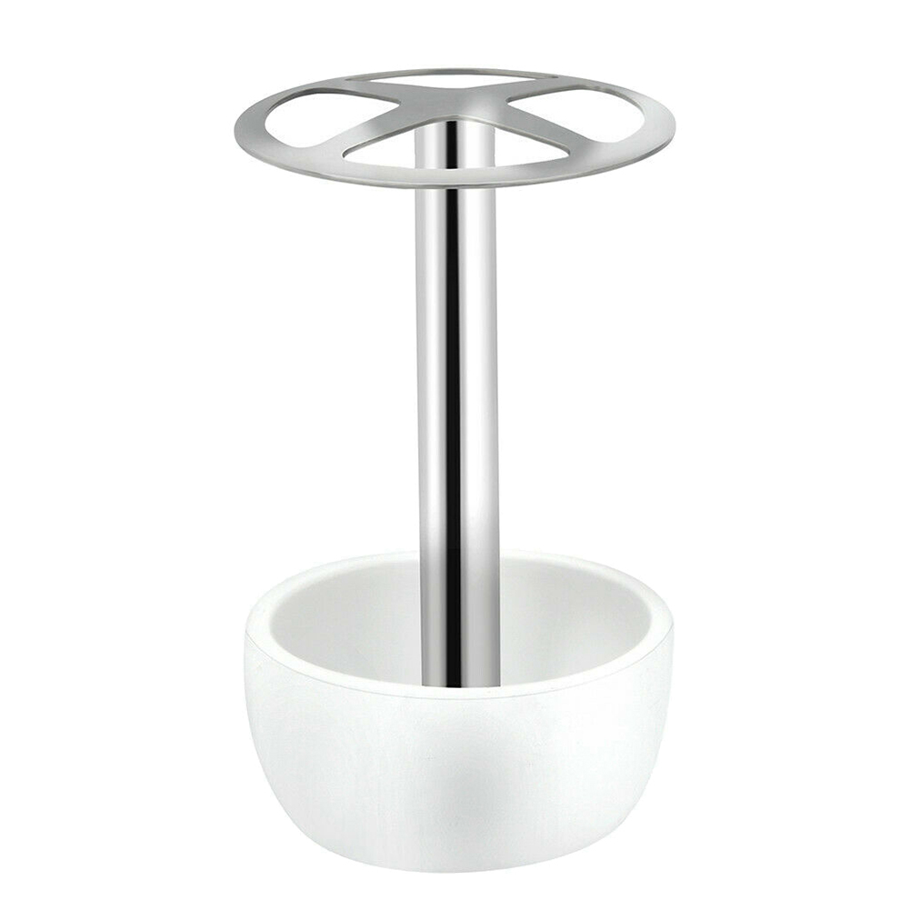 Toothbrush Holder Stainless Steel Resin Stand Makeup Brush Storages Rack for Home HUG-Deals image