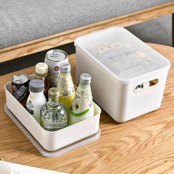 2pcs PP Make Up Organizer For Underwear Solid Box Kitchen Storage Containers Bedroom Organizer Box Small Items Storage Boxes New