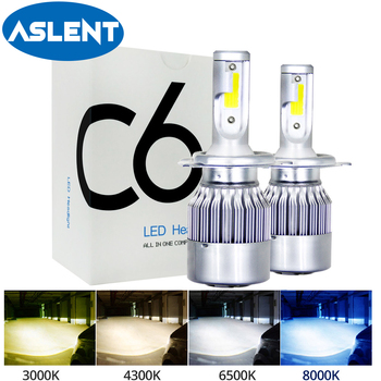цена на 2PCS 3000K 6500K 8000K 8000LM Turbo H1 H8 H4 Led bulb 12V C6 Car Headlight H3 H7 H11 9007 9005 9006 Super Bright lamp Fog Light