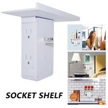цена на Switch Socket Rack Socket Shelf 8-port US Standard Multi-function Bathroom AC Power Outlet Shelf With Usb Ports Storage Holder