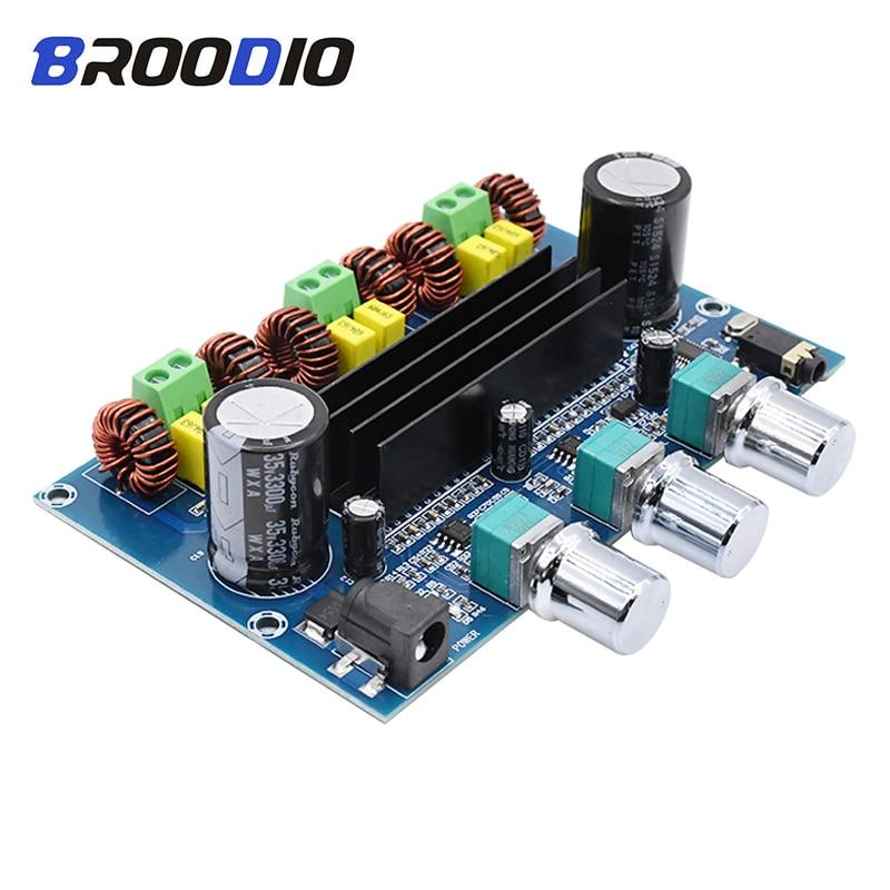 TPA3116D2 Bluetooth 5.0 Digital Amplifier Board 2.1 Channel 2*50W+100W Stereo High Power Audio Class D Bluetooth Amplifiers