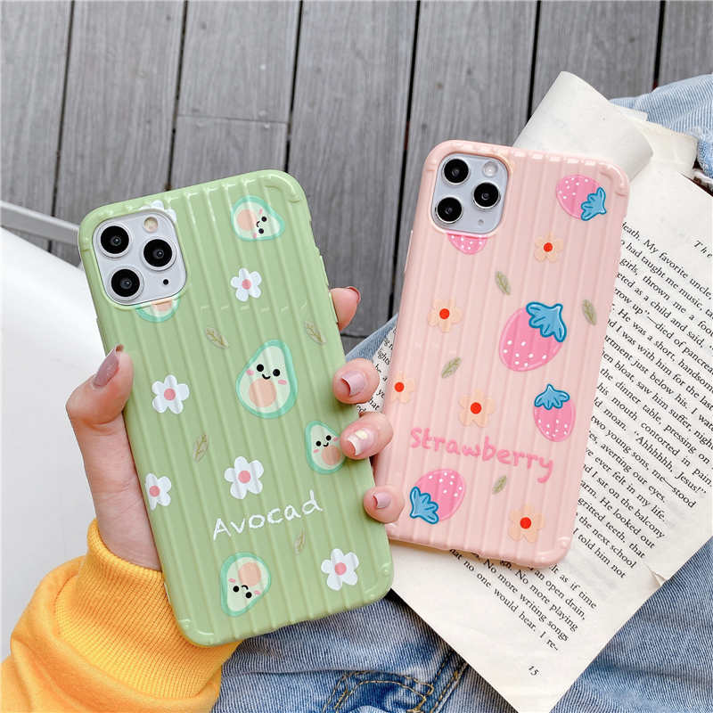 Cute fruit avocado Soft Case For <font><b>OPPO</b></font> A9 A5 2020 A11X K5 K3 Reno 2 Z A83 A59 <font><b>A57</b></font> F9 F7 F11 A3S K1 R17 R11 R11S A7X <font><b>Cover</b></font> <font><b>Back</b></font> image