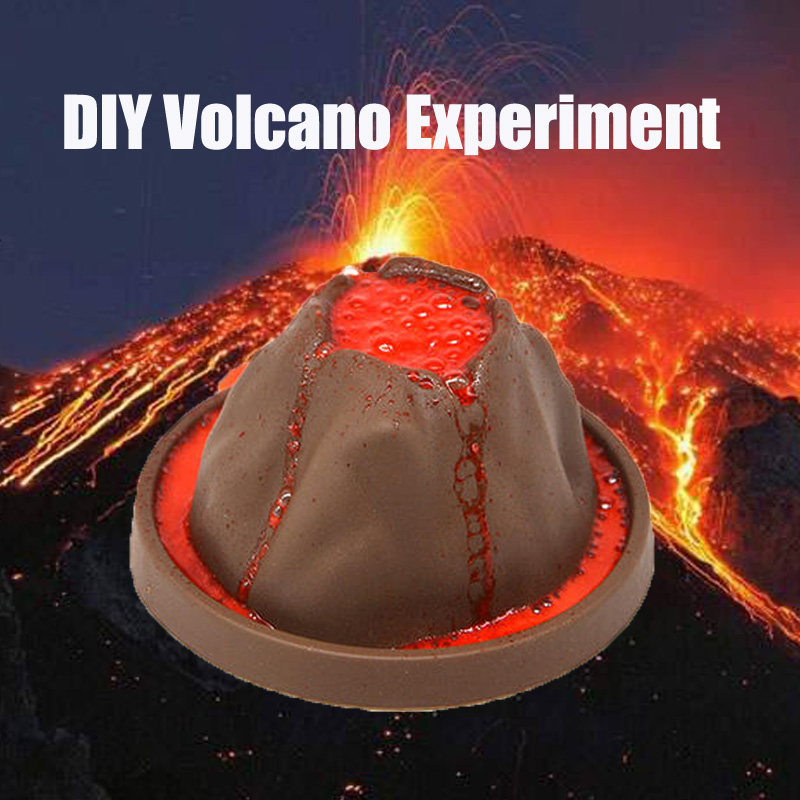 Kids DIY Science Exploring Toys Small Chemistry Learning Toys Educational Volcano Eruption Physical Chemical Experiment Kit Gift