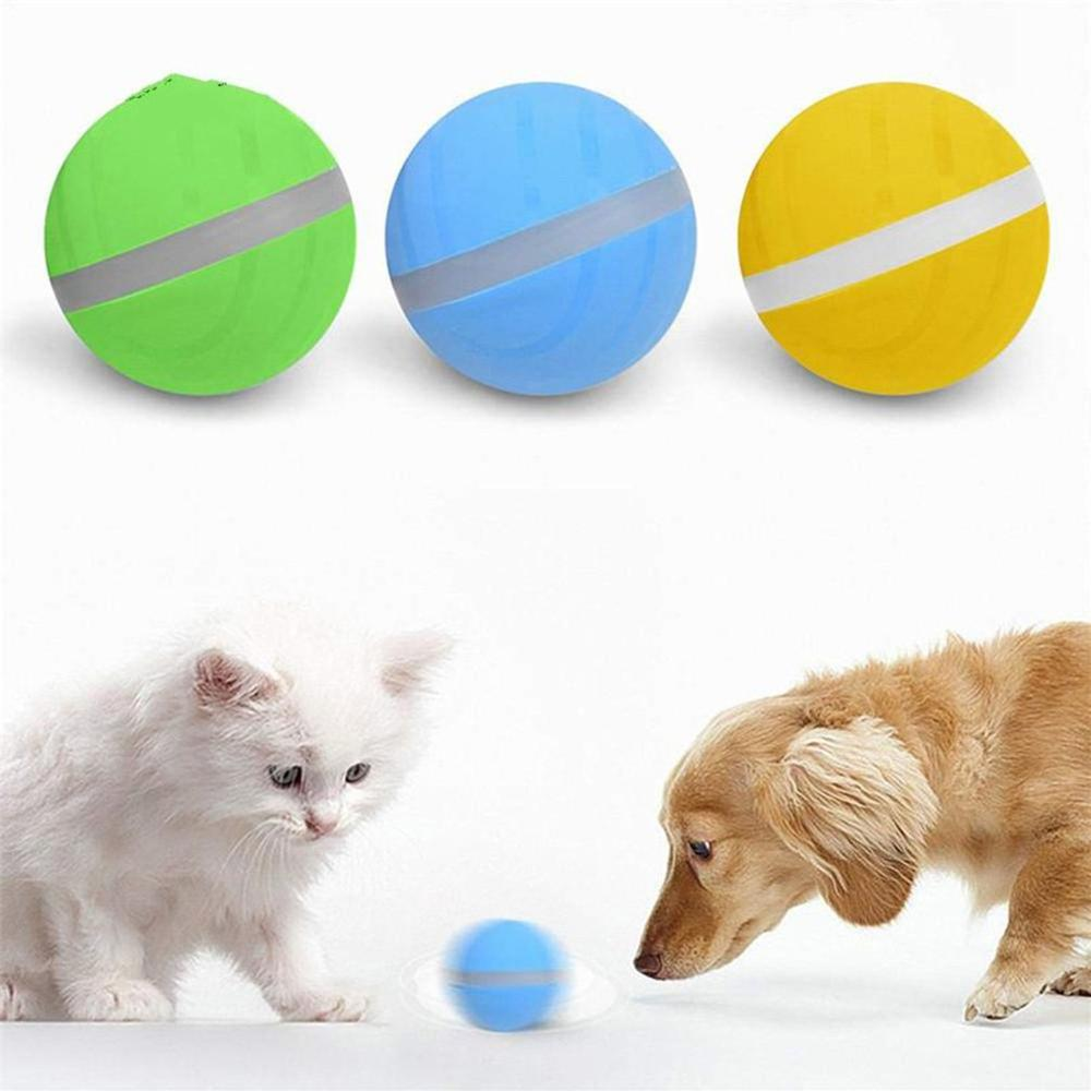 Pet Dog Toy Jumping Ball Led Rolling Flash Ball Cat Dog Toy Ball Usb Electric Ball Funny Toy Pet Supplies