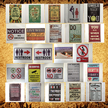 [Luckyaboy] Toilet Restroom Warning Happy Kitchen Poetry Words Vintage Metal Retro Tin Sign Bar Cafe Home Pub Decor